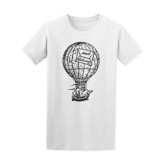 Vintage Hot Air Balloon & Ship Tee Men's -Image by Shutterstock