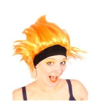 Orange Wig with Headband