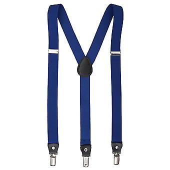 Royal Blue Plain Braces for Boys