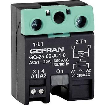 Gefran SSR 1 pc(s) GQ-25-60-D-1-3 Current load (max.): 25 A Switching voltage (max.): 600 V AC Zero crossing