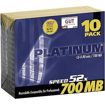 Platina 100144 lege CD-R 80 700 MB 10 PC (s) slanke behuizing