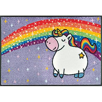 lavado + secado mat unicornio arco iris suciedad lavable alfombra unicornio