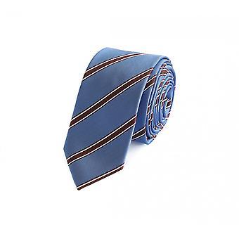 Schlips Krawatte Krawatten Binder 6cm blau braun weiß gestreift Fabio Farini
