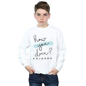 Friends Boys How You Doin? Handwriting Sweatshirt