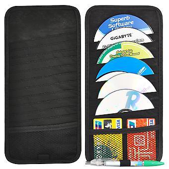 TRIXES 12-skiva CD-hållare för din bilens solskydd