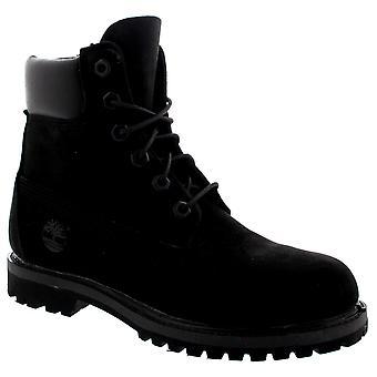 Womens Timberland 6 Inch Premium étanche Lace Up Boots Nubuck noir