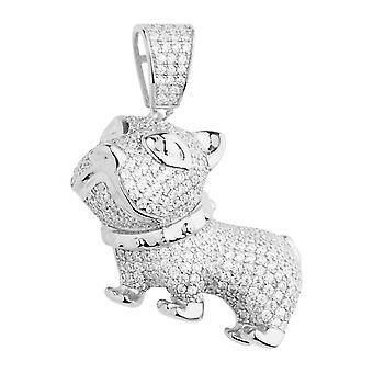 Premium Bling - 925 sterling sølv 3D hunden trailer