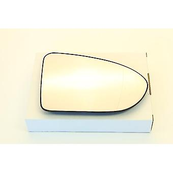 Right Driver Side Mirror Glass (heated) & Holder for NISSAN QASHQAI 2007-2014