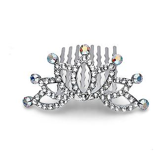 Oliver Weber Hair Accessory Spring Rhodium Crystal