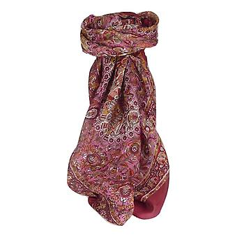 Mulberry Silk Traditional Square Scarf Mani Wine by Pashmina & Silk