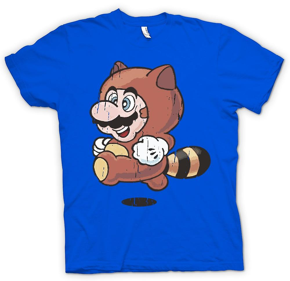 Mens T-shirt - Raccoon Mario - Super Mario Inspired