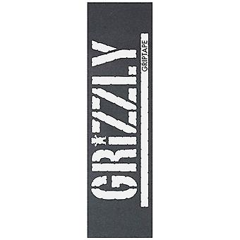 Grizzly White Oversize Stamp - 9 Inch Skateboard Grip Tape