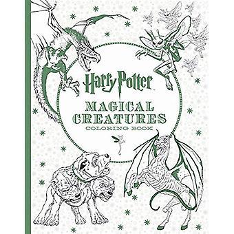 Harry Potter magiska varelser målarbok