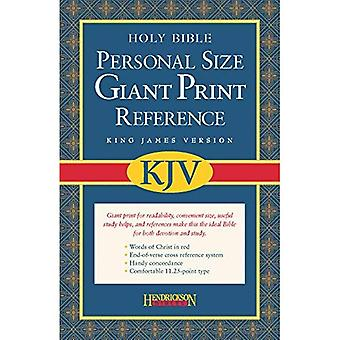 Holy Bible King James Version, Burgundy Imitation Leather, Personal Size Giant Print Referen...