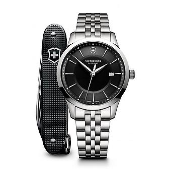Victorinox Swiss Army 241801.1 Alliance With Pioneer Swiss Army Knife Black & Silver Stainless Steel Swiss Watch