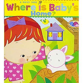 Where Is Baby's Home?: A Karen Katz Lift-the-Flap Book [Board book]