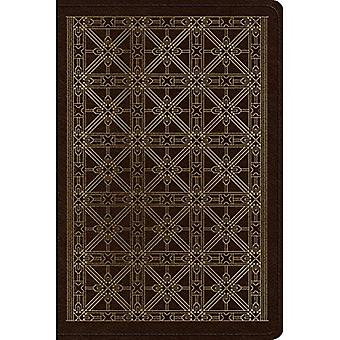 ESV Personal Reference Bible (Trutone, Brown, Cross Grid Design)