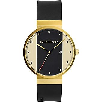 Jacob Jensen Unisex Quartz analogue watch with rubber strap (New Series) Item No. 734