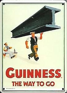 Guinness Girder metal postcard / mini sign