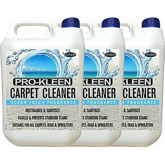 Mylek Upholstrey Carpet Cleaning Solution Ocean Fresh; 3 X 5 Litres