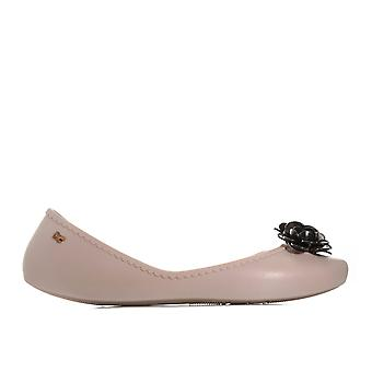 Womens Zaxy Start Blossom Shoes In Nude Contrast- Slip On- Cushioned Insole-