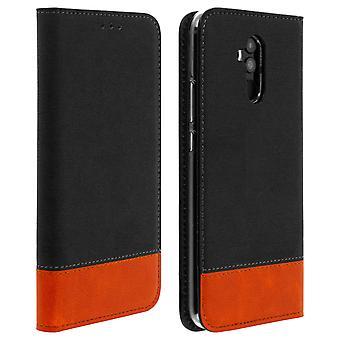 Huawei mate 20 Lite Flip Wallet case-Étui en Jean noir