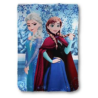 Elsa & Anna Frozen Girls Blue Plush Fleece Blanket