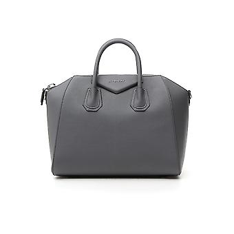 Givenchy Antigona M Grey Leather Handbag