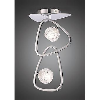 Lux Ceiling 2 Light G9, Polished Chrome