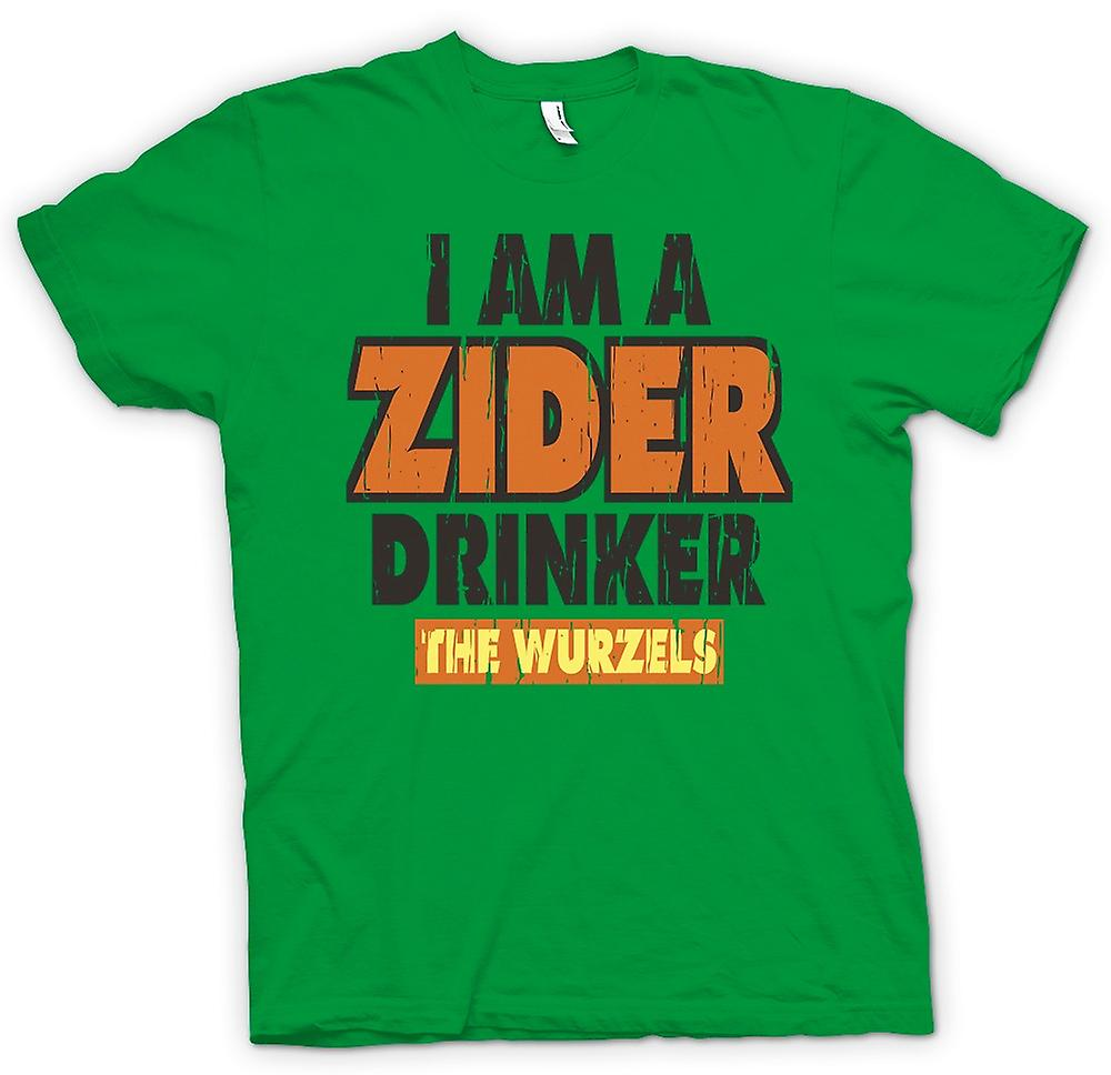 Mens T-shirt - I Am A Zider Drinker - The Wurzels