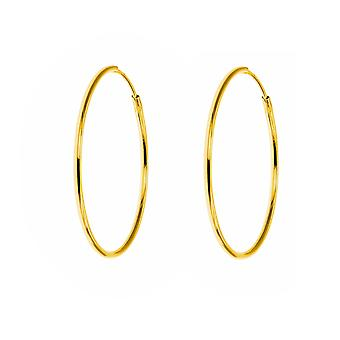 The Olivia Collection Laides, Gents, Children's 9ct Yellow Gold 18mm Hoop Tube Sleeper Earring  - 1 Pair