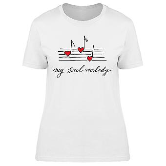 My Soul Melody Music Sheet Notes Tee Women's -Image by Shutterstock
