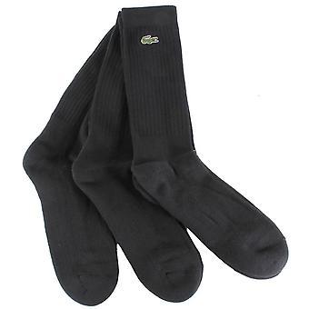 Lacoste Classic crew 3-pack sokken-zwart