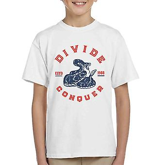Divide & Conquer Rattlesnake Kid's T-Shirt