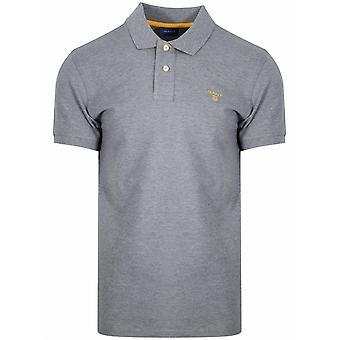 Gant GANT Grey Contrast Polo Shirt