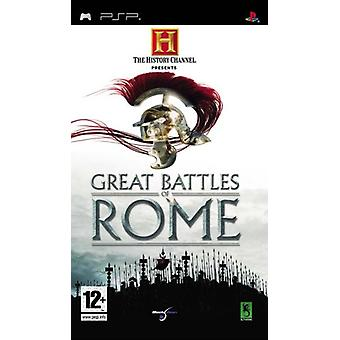 The History Channel Great Battles Of Rome (PSP) - Usine scellée