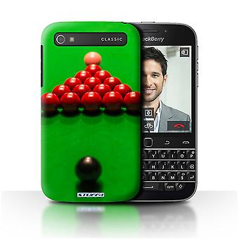 STUFF4 Case/Cover for Blackberry Classic/Q20/Black Ball/Rack/Pink/Snooker