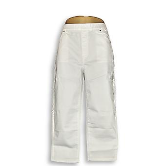 Susan Gravir Donne's Pantaloni Allungare Twill Pull-on Crop Bianco A301163
