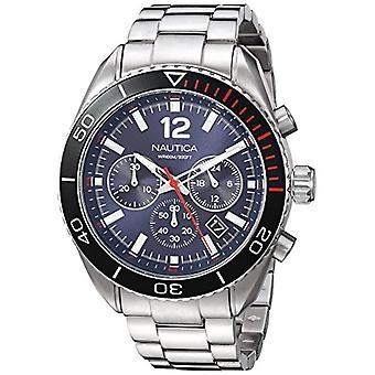 Nautica Analogueico Watch quartz men with stainless steel strap NAPKBN004