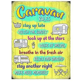 Caravan Rules fridge magnet (og)