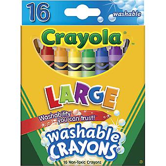 Crayola Large Washable Crayons 16 Pkg 52 3281