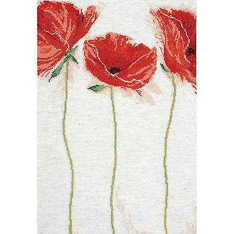 Flamenco Poppies Counted Cross Stitch Kit 12