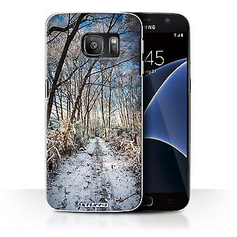 STUFF4 Case/Cover for Samsung Galaxy S7/G930/Frozen Path/Winter Season
