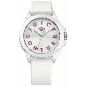 Juicy Couture Womens Fergie White Rubber Strap White Dial 1901464 Watch