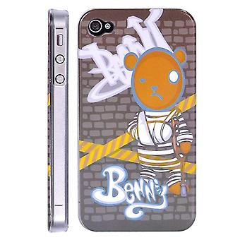 Benny bear cover with plaster, in hard plastic, for iPhone 4/4s