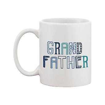 Söta morfar 11oz mugg - kaffe mugg för farfar-fars dag present och farföräldrar dag present, Silver Hair-guld hjärta