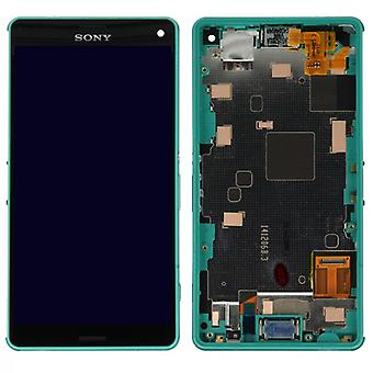 Original Sony Display LCD complete unit with frame for Xperia Z3 Compact Green