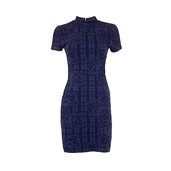 Topshop Paisley Short Sleeve Body Con Dress DR840-14
