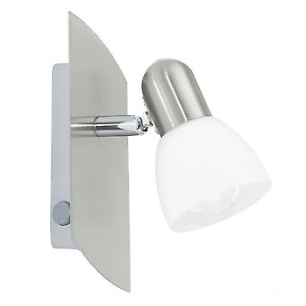 Eglo Enea 1 Light Switched Wall/ceiling Spotlight Nickel Matt