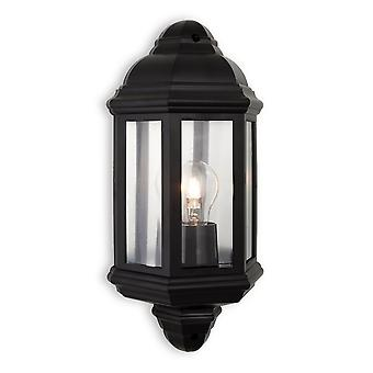 Firstlight Traditional Black Flush Garden Wall Lantern